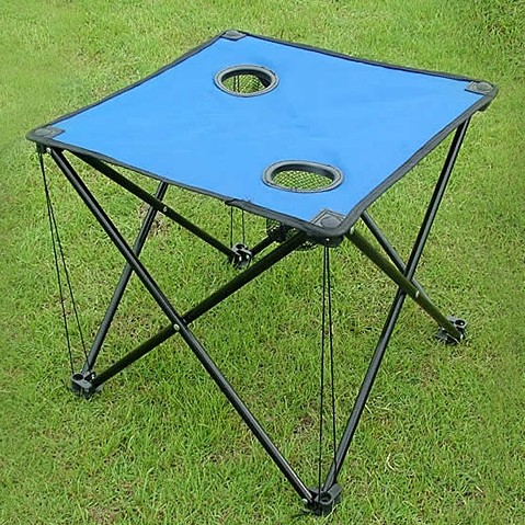 New Ultra-light Steel Portable fabric Folding Table small Camping Outdoor Picnic Table