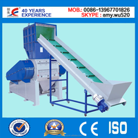 Waste Plastic Crusher with automatic conveyor