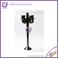 For Rent Western Shabby Chic Whole Sale Black Crystal Candelabra For Wedding Centerpiece Kits Hire