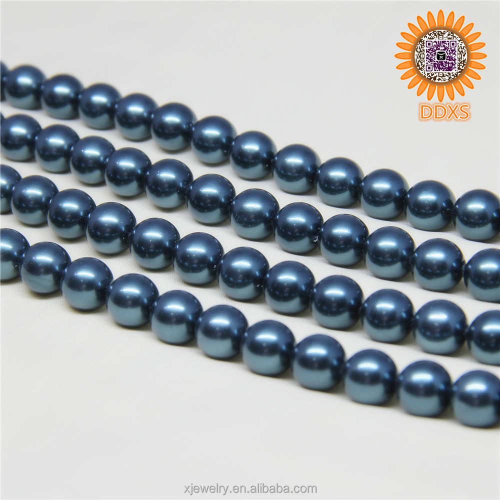 wholesale 10mm white shell pearl loose strand,hong kong jewelry wholesale