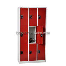 powder coated KD metal gym 9 door locker room furniture