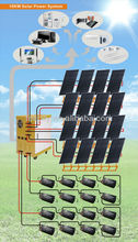 10KW DC/AC 220V solar kits power system home electricity use in africa