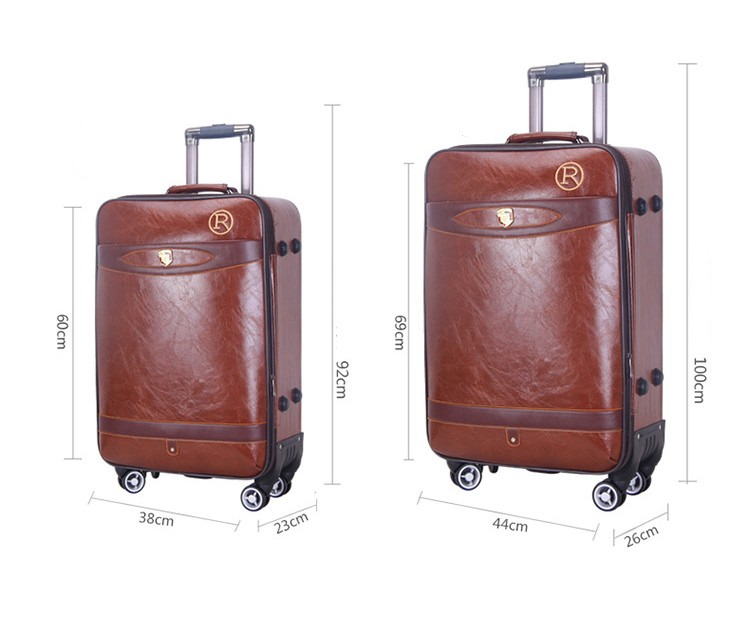 Trendy Waterproof Suitcase Cover Leather Small Trunk