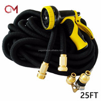 Top selling incredible expanding flexible rubber hose garden water hose expandable black