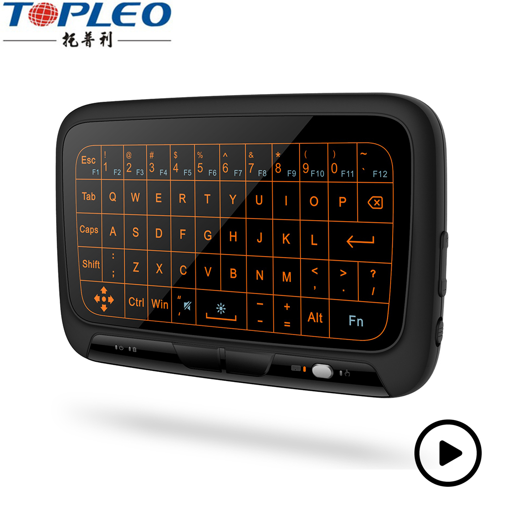 Latest technology new product H18 2.4G wireless backlit touchpad keyboard mouse combo