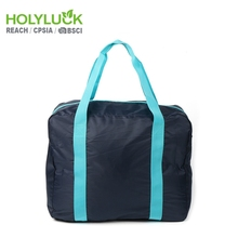 Custom foldable travel duffel bag,small easy folding travel duffle bag