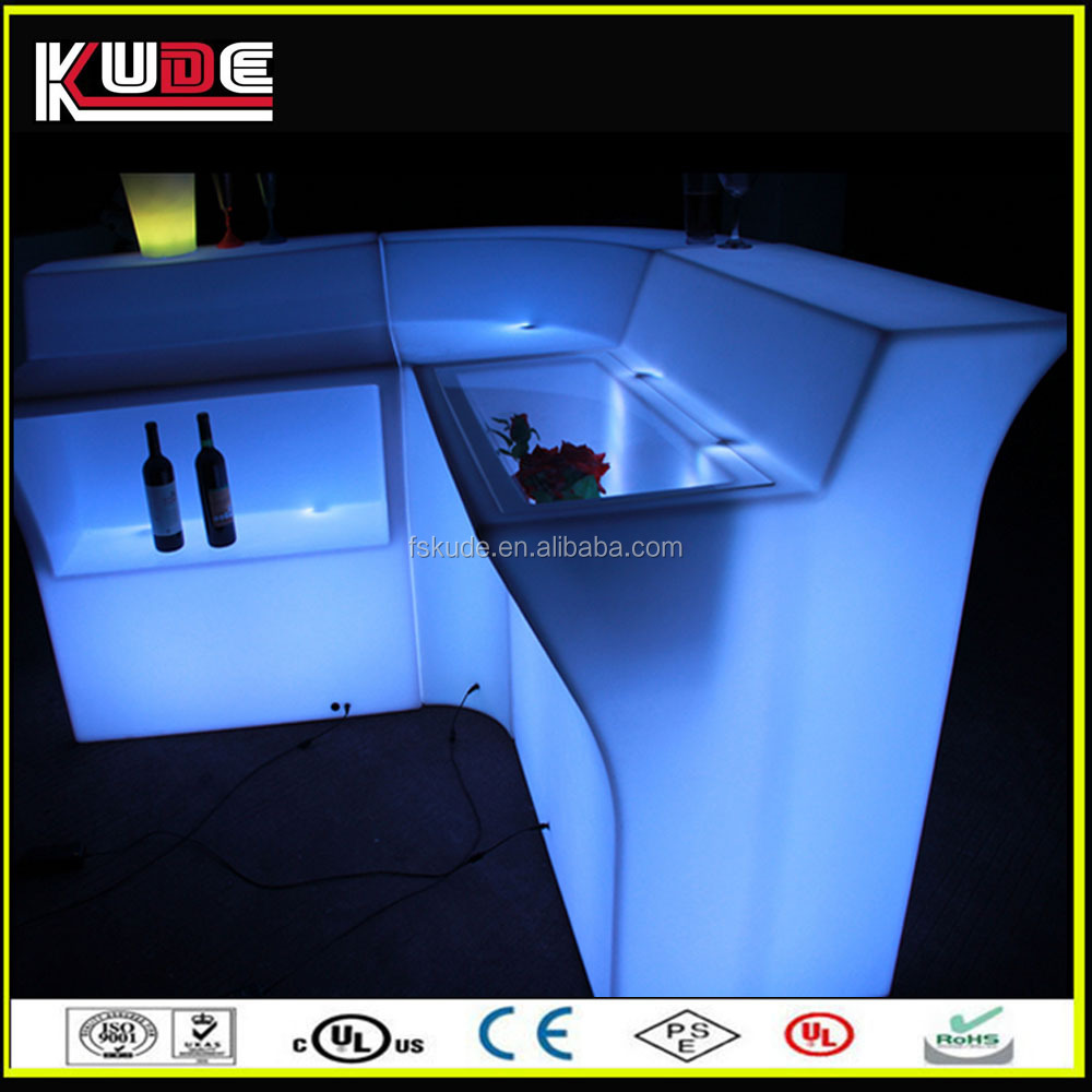 RGB glow design mobile illuminated home bar counter for sale