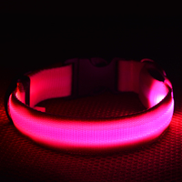 Hot new products led pet collar dog usb rechargeable