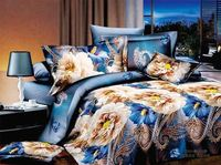 3D Animal Beautiful Mexico Cotton Bedspread For Yeman Bedsheet Hotel