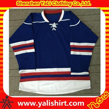 Wholesale high quality breathabele v-neck mesh plain cheap plus size ice hockey jersey