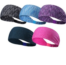 Wholesale lightweight Sweatband Nylon Yoga Headband for Crossfit Fitness and Travel E40-1