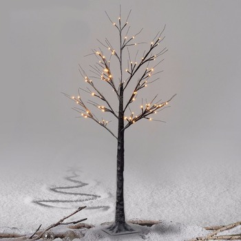 2017 Best Selling48 led Warm White Lighted Snow Dusted Bonsai Tree