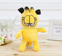 Handmade cute animal cats toy long round plush pillows for gift