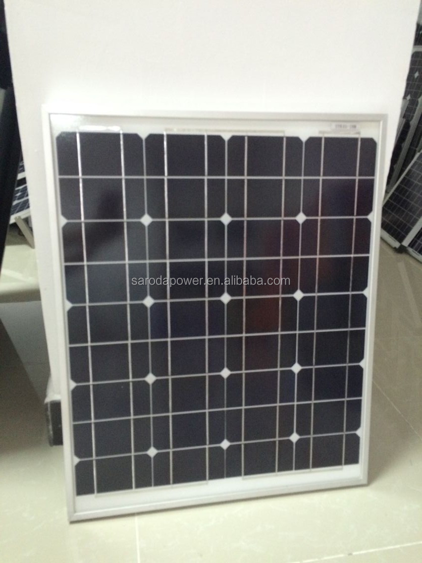 SARODA high quality small size 18V 50w off-grid solar panel kits for home grid system