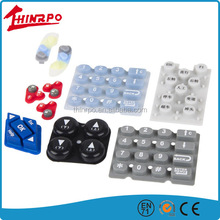 China Factory Silicone Keypad with conductive Pill /Rubber painted Push Button Custom Made