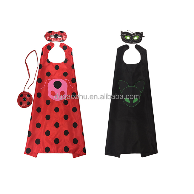 halloween costumes for kids clothing factory <strong>price</strong> ladybug miraculous mask cloak