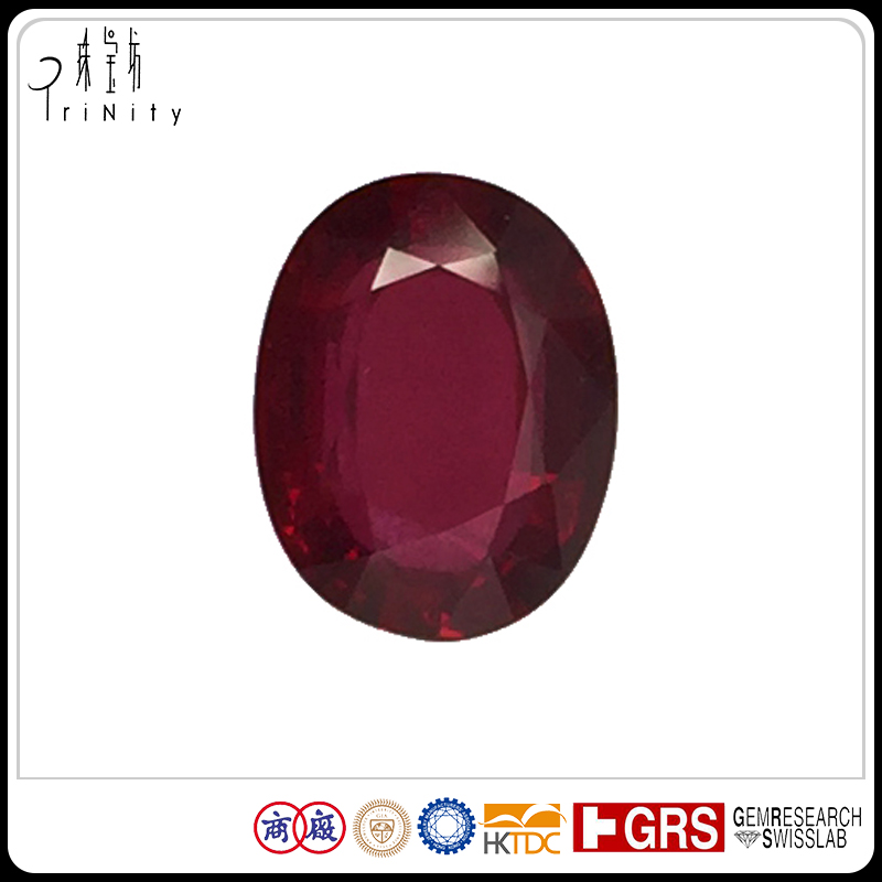High Quality Red Ruby 8.08 x 6.25 Red Color Round Oval Cut Natural Unheated Ruby