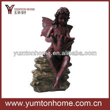 resin angel figurine for home decotation