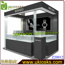 2015 SHENZHEN Excellent watch &mall kiosk for cell phone showcase display for shopping mall