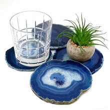 Hot selling fruit tray, agate stone slices, oval and round agate slice plate