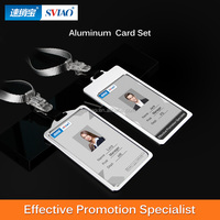 Leather Clear Id Business Card Badge Holder Horizontal Vertical Leather Clear Id Business Holder
