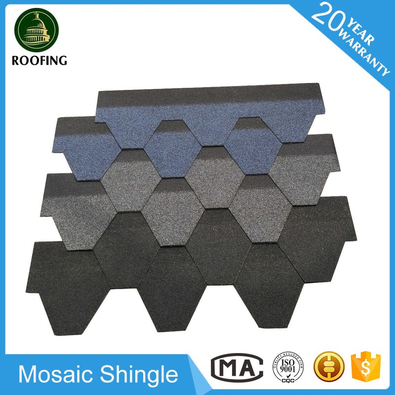Mosaic asphalt shingle manufacturers,cheap building material with great price