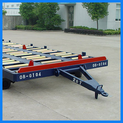 4 wheels airport Pallet transport dolly trailer for sale