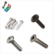 Taiwan Stainless Steel 18-8 Copper Brass Aluminum Brass Philips Pan Head Screws Philips Cross Recessed Screws Truss Head Philips