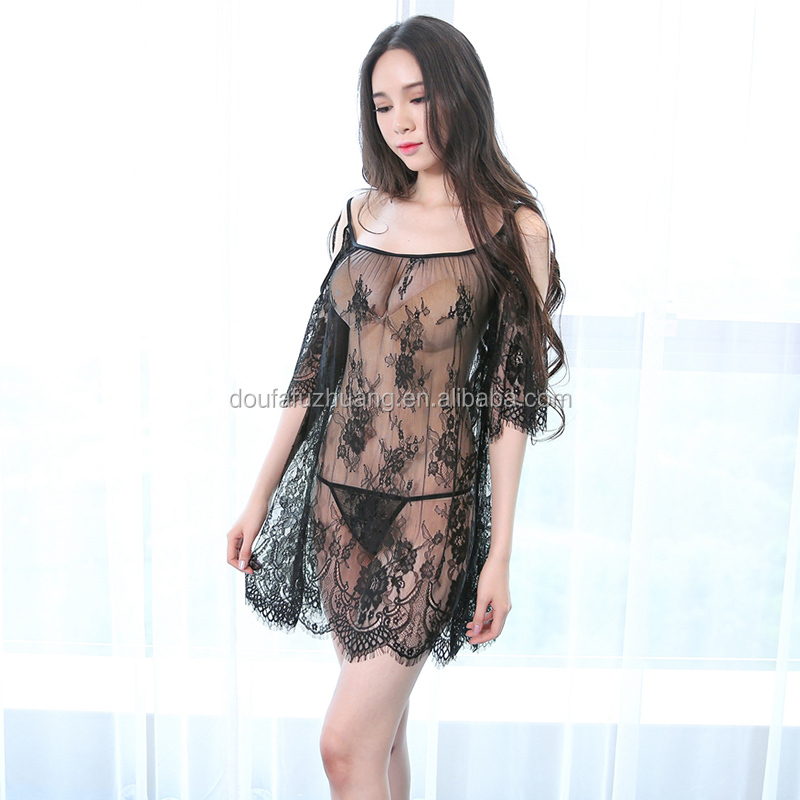 <strong>Sexy</strong> off shoulder dress lingerie transparent <strong>sexy</strong> body stocking underwear