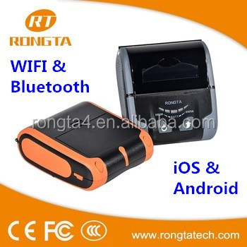 RPP300WU iOS/android mobile cover printer, Wifi+USB printer with linux driver, 80mm restaurant handheld thermal printer machine,