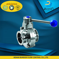 Food grade sanitary screw type butterfly valve