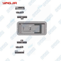 02342DS Stainless Steel Recessed Locking Handle / truck body parts
