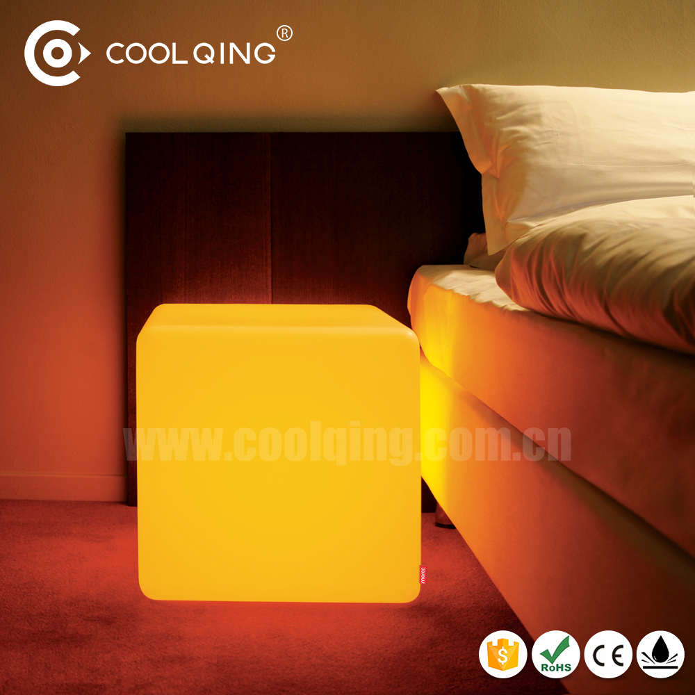 IP 68 Waterproof LED Light Magic Cube Seat with 16 mood color changing remote control for party / shop / garden / kindergarten