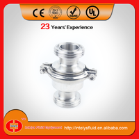 Stainless Steel 304 316L Adjustable Sanitary Welded/Clamp/Thread Vertical Check Valve