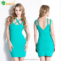 2016 factory price light color sexy woman night club party off shoulder bandage dress for sale