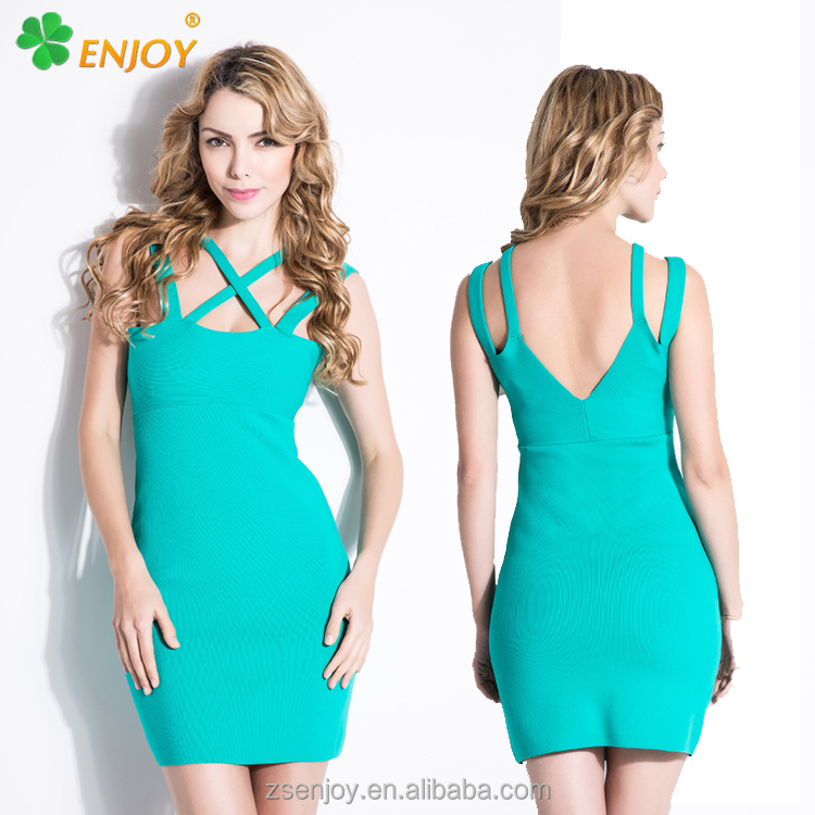 2017 factory price light color sexy woman night club party off shoulder bandage dress for sale