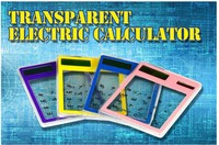 Free Sample solar mini New Transparent Electronic Calculator
