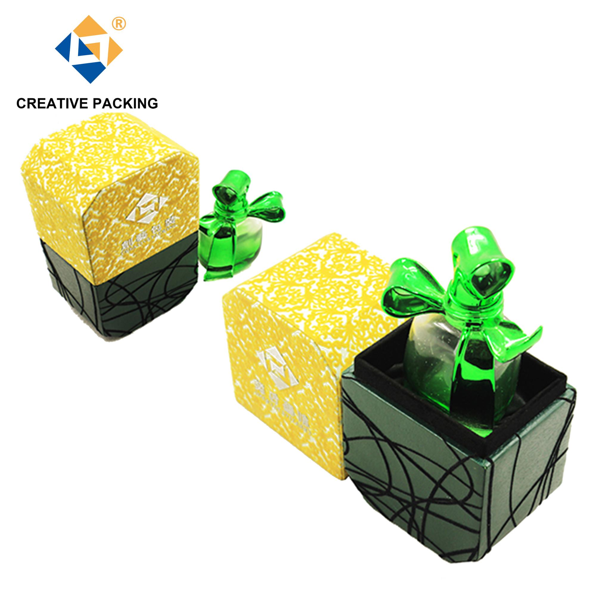 Super Beauty Creative Flock Design Art Paper Perfume Packaging Box