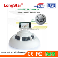 P2P Wifi Connection Supports Iphone and Android Phone Multi-use Smoke Detector Hidden Camera YM-W006