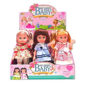 Sweet baby doll Plastic cute blink eyes adorable girl barbie dolls lovely big eye soft rubber baby dolls