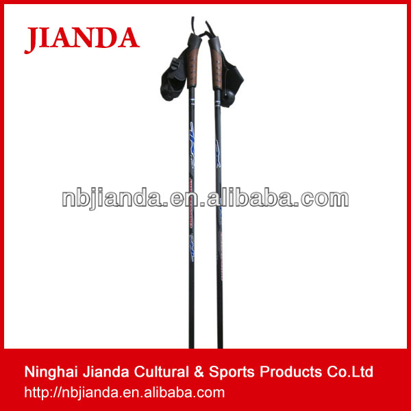High Quality Carbon Fiber folding ultralight portrable Nordic Walking Stick and Ski Pole