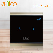 Chitco hot sale american/european/chinese standard smart wifi touch wall switch led controller wifi