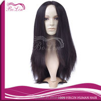Best Monofilament Skin Top Russian Human Hair Natural Straight Jewish Wig