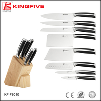 Stainless steel quality kitchen knife Set with wooden block