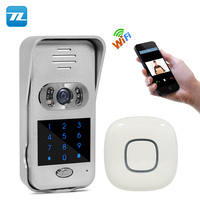 China Factory rain-proof cover unlock function night vision wifi wireless doorbell