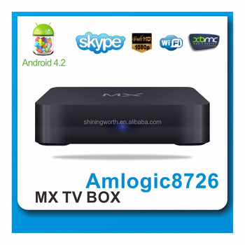 Original factory customized AML8726-MX Dual Core 8GB Flash XBMC Android 4.2 Smart TV Box, Supporting XMBC and DLNA Functions