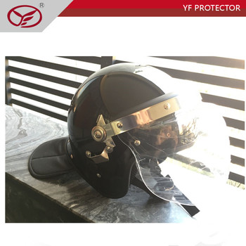 Safety ABS material anti riot control police helmet with PC visor supply