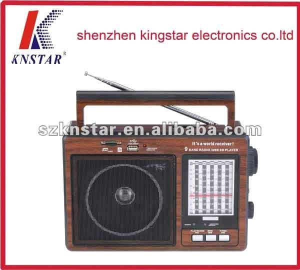 RX-9966UAR AM/FM/SW1-9 bands desktop USB/SD radio