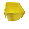 Large capacity 120 litre heavy duty attached lid plastic distribution moving containers for sale