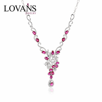new products 2016 ruby beads necklace design fashion necklace SNO005W